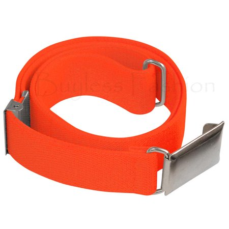 (Buyless Fashion Kids And Baby Adjustable And Elastic Dress Stretch Belt With Silver Buckle - Orange)
