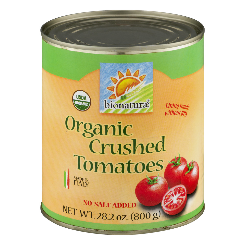 Bionaturae Organic Crushed Tomatoes No Salt Added, 28.2 OZ