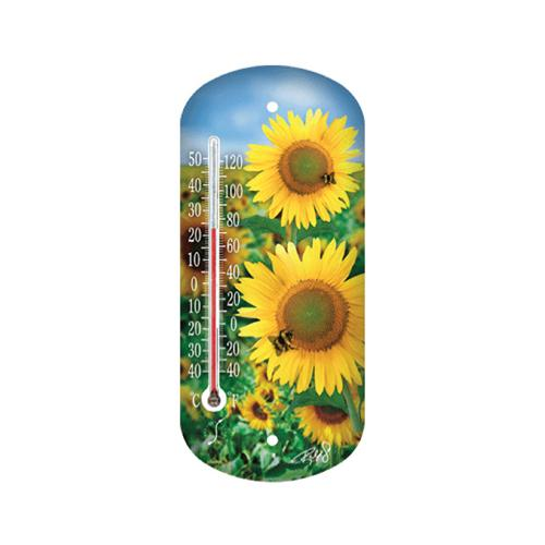 "8"" Sunflower Outdoor Thermometer, Taylor Precision, 90167 by Taylor Precision Products"