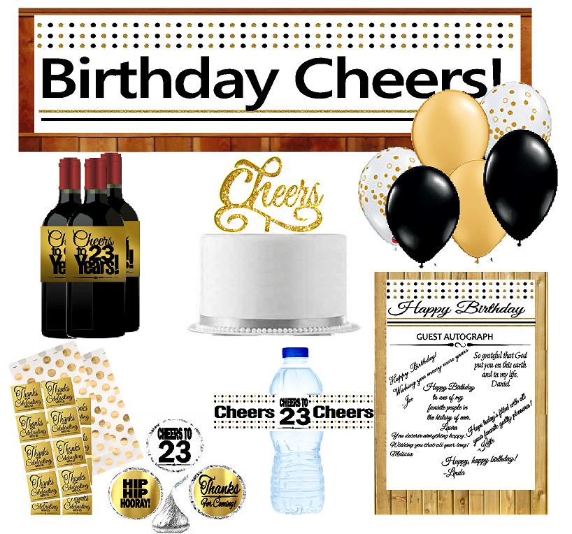 23rd Birthday Party DecorationsDecoraitons Kit w. Banner ...