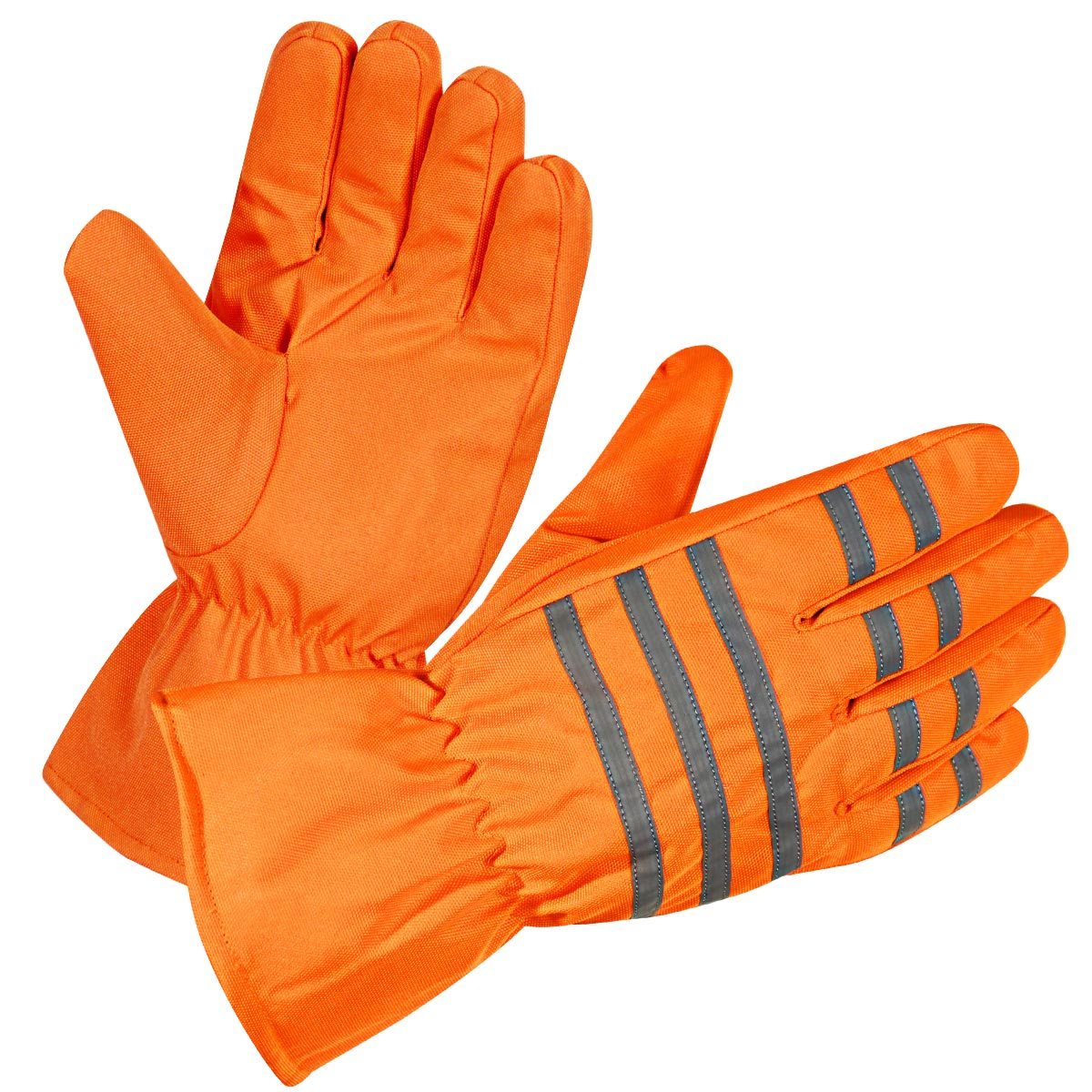 Xelement XS0405 Gauntlet Mens Neon Orange Waterproof Tri-Tex Textile Gloves
