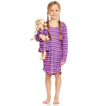 Leveret ZigZag Matching Doll Nightgown 4 - Ballerina Gown