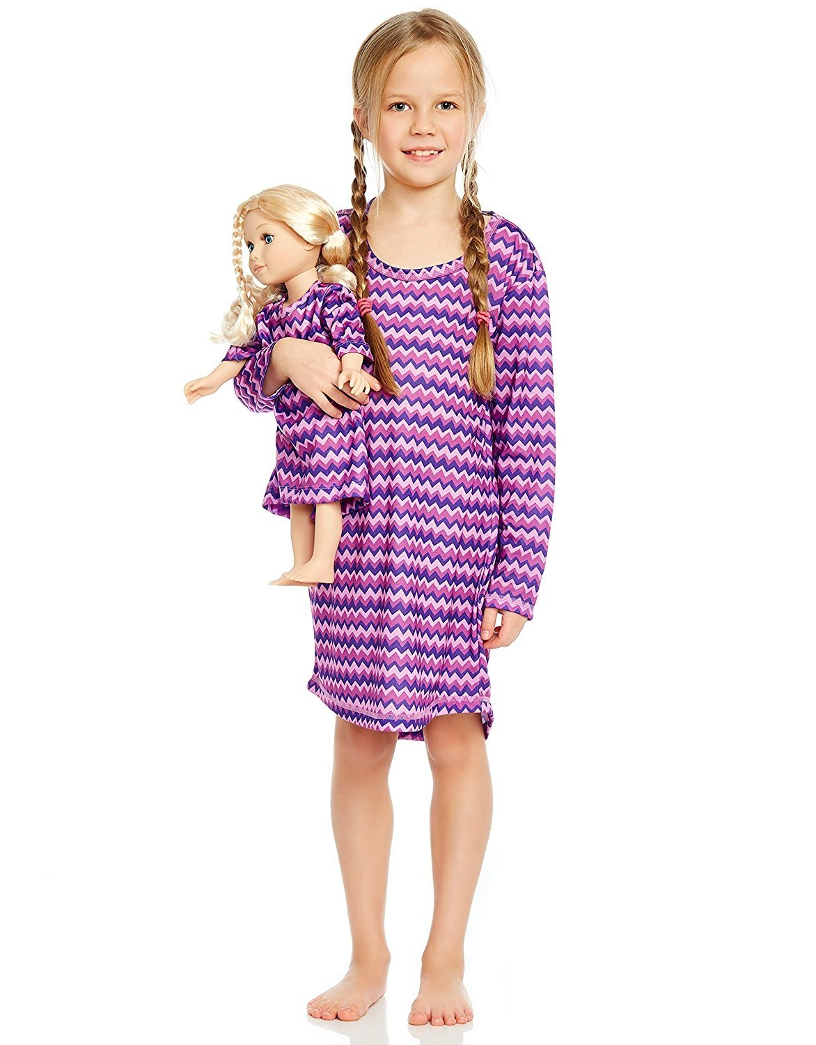 Leveret ZigZag Matching Doll Nightgown 4 Years