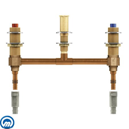 Moen 4798 1/2 Inch PEX Roman Tub Rough-In Valve with 10 Inch Centers from the M-PACT Collection