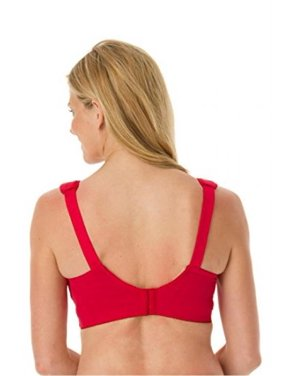 Elila Women's 1305 Embroidered Bra 50L Red