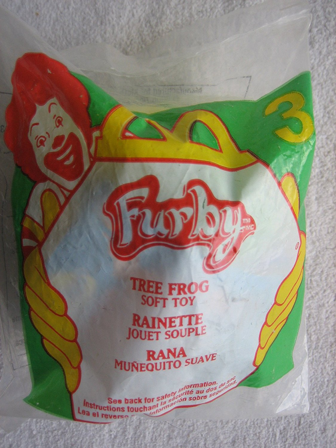 Furby #3 Tree Frog Plush Toy 2000, By McDonalds Ship from US by