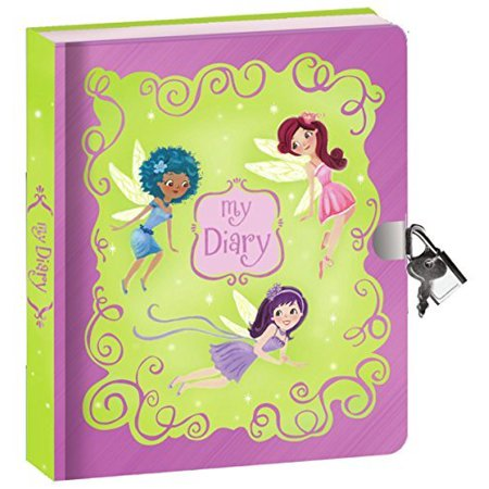 "Peaceable Kingdom Fairies Shiny Foil Cover 6.25"" Lock and Key, Lined Page Diary for Kids"