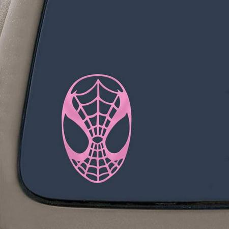 Spiderman Face Spidey Mask Vinyl Decal Sticker - Soft Pink | 5.5