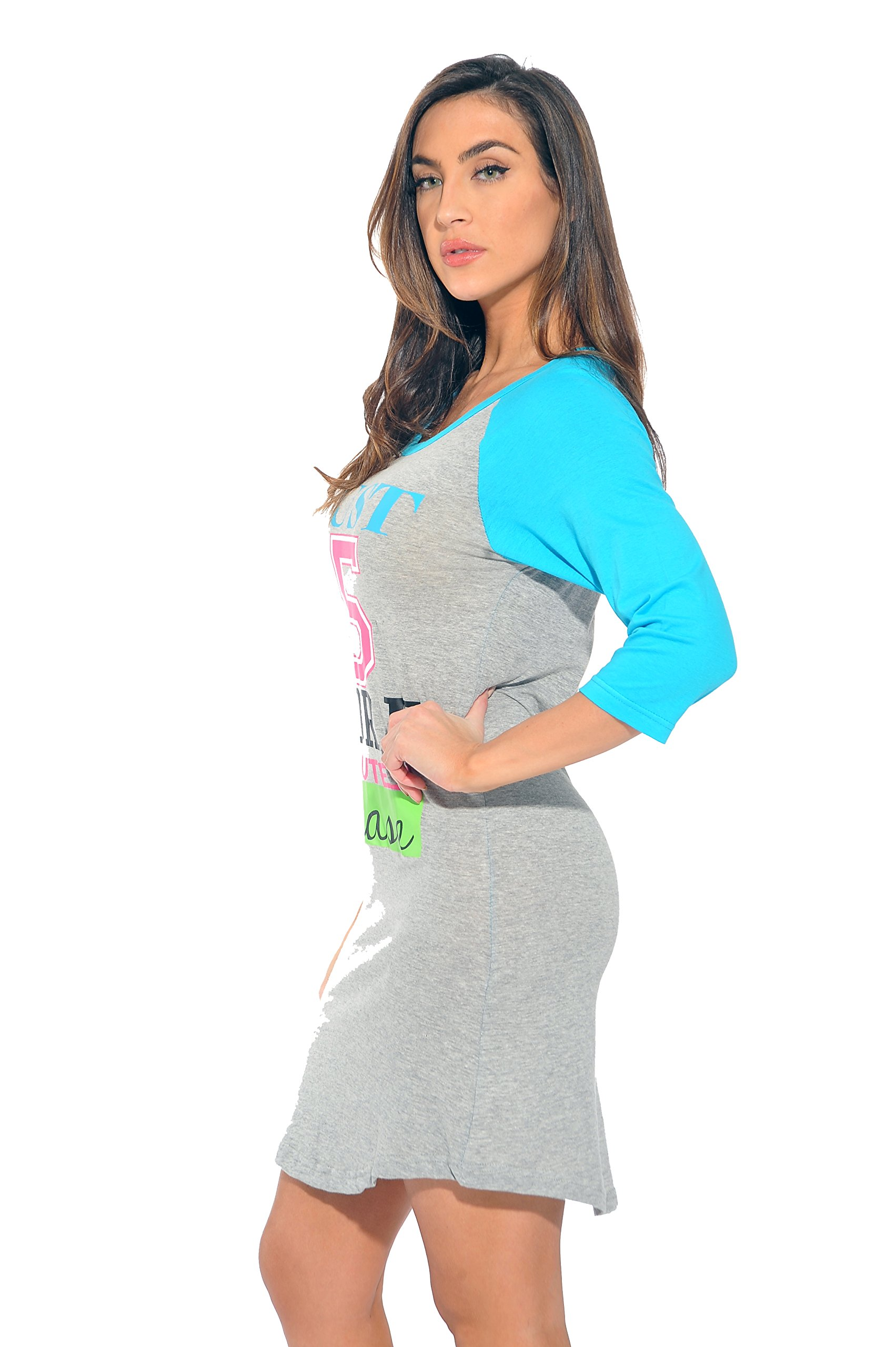 5131b1bb03ae Just Love - Just Love Sleep Dress for Women   Sleeping Shirt   Nightshirt ( Grey - Don t Do Mornings