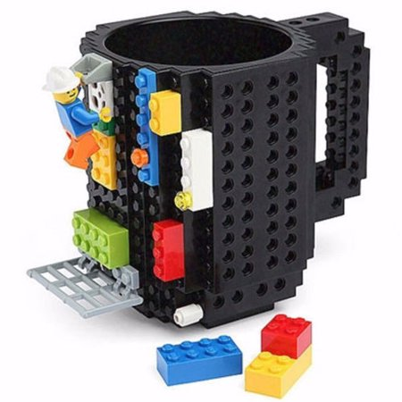 Brick Mug Building Blocks Creative Coffee Cup Block Puzzle Mug 12oz - 12oz In Cups