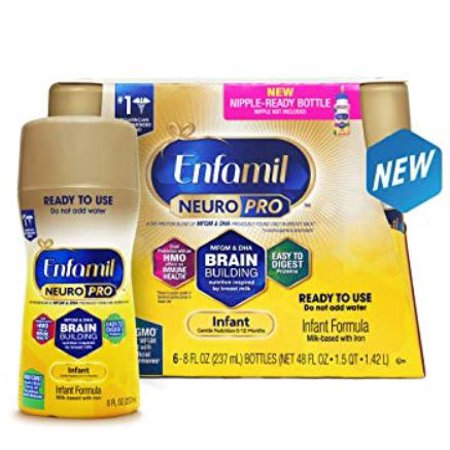 Enfamil Infant NeuroPro Baby Formula, 6 Ready-to-Use 8 fl oz (Best Powder Milk For Babies In Philippines)