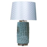 Stacked Seashells Table Lamp in Turquoise