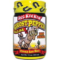 Ass Kickin' Ghost Pepper Salsa - Thick and chunky, made with Bhut Jolokia Peppers.