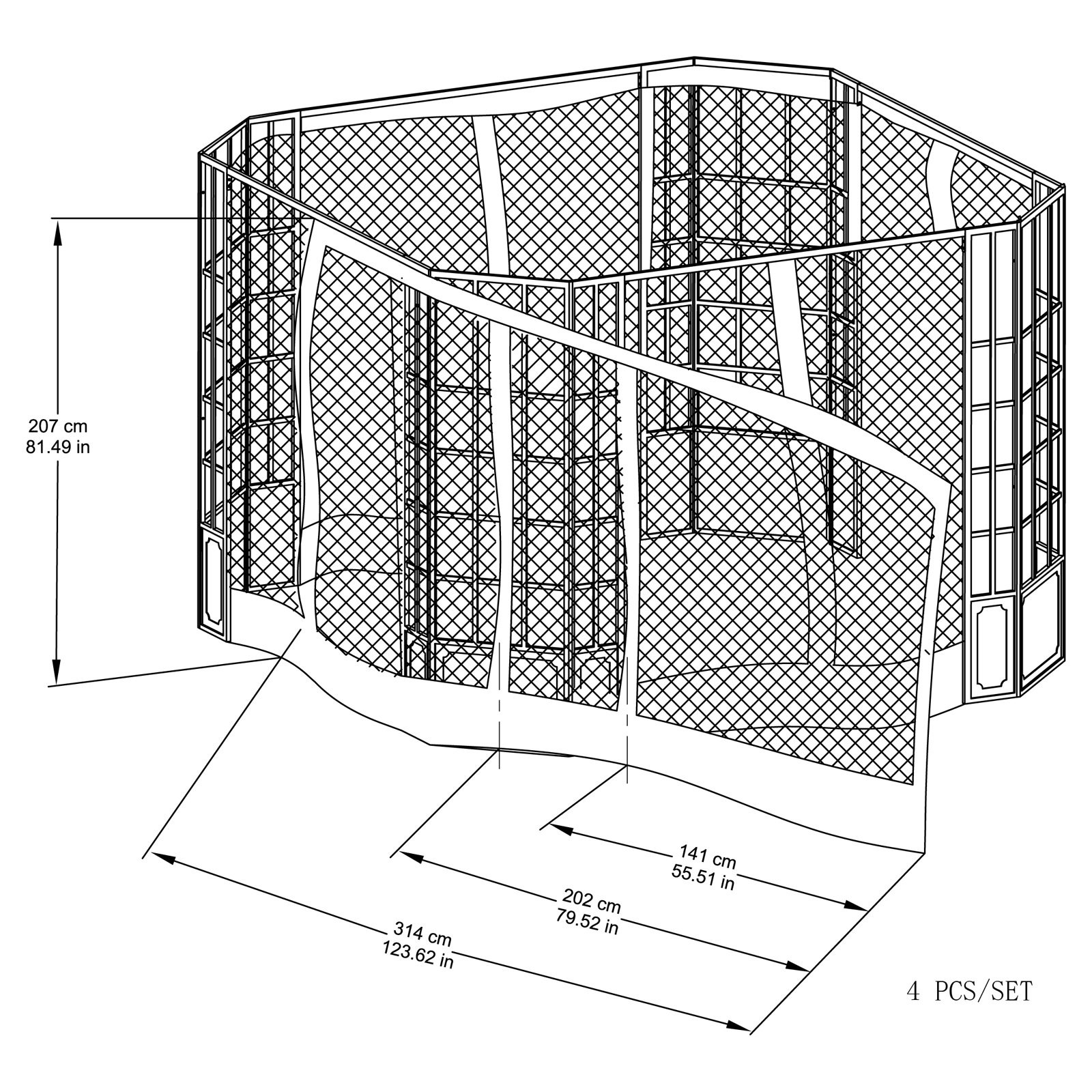 Replacement Mosquito Netting for L-GZ120PST-2L 11.8X9.8 Franklin Bay Window...
