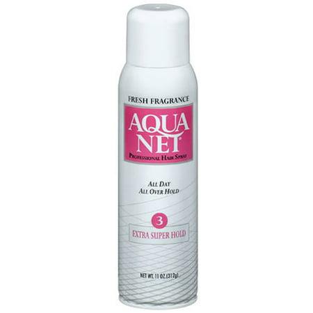 (2 Pack) Aqua Net Fresh Fragrance Extra Super Hold Hair Spray, 11 oz 11 Piece Super Pack