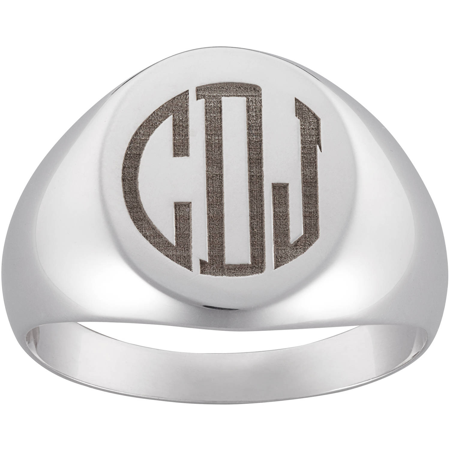 Personalized Men's Sterling Silver Monogram Ring