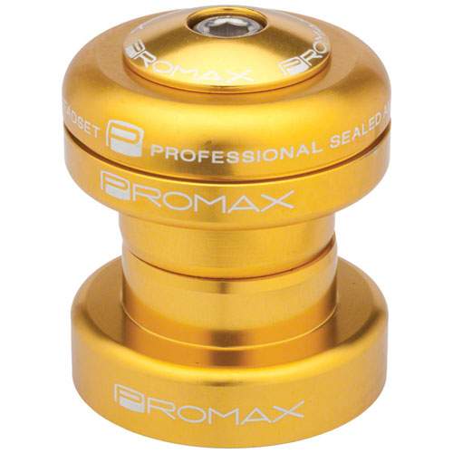 "Promax PI-1 Alloy Sealed Bearing 1"" Press in Headset Gold"