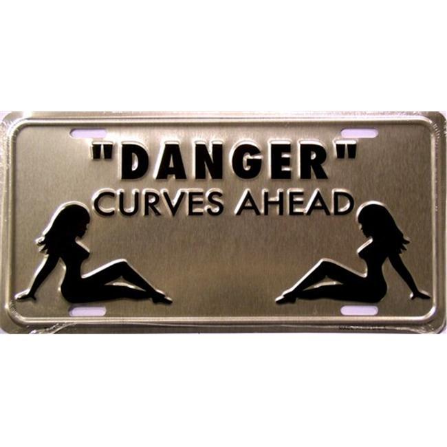LP - 1126 Danger - Curves Ahead License Plate - X316