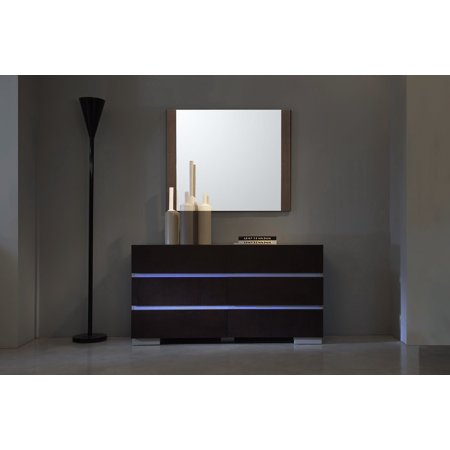 Anzio Brown Oak Wall Mirror