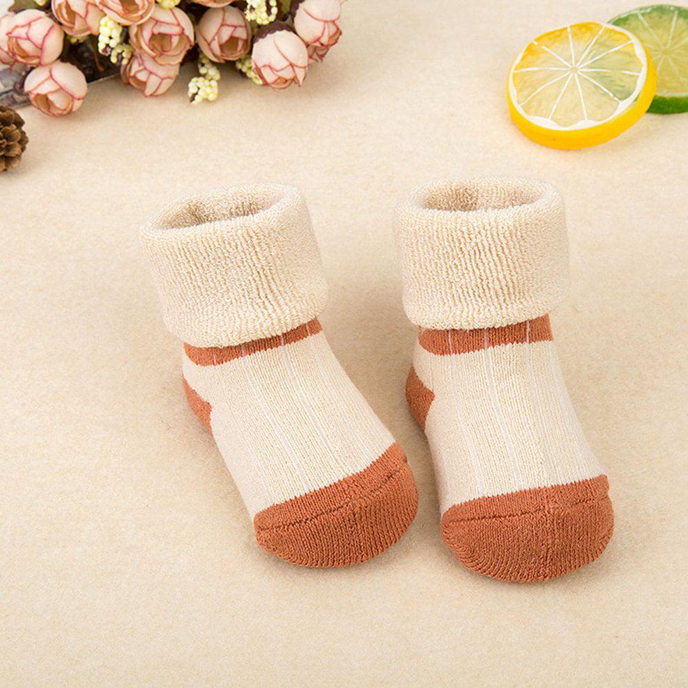 5 Pairs Cute Cartoon Animal Toddler Newborn Baby Crew Socks Cotton Breathable Warm Socks