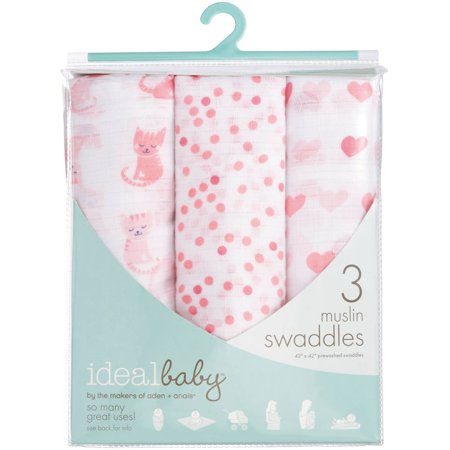 Best Ideal Baby by the Makers of Aden + Anais Swaddles, Kitty Love deal