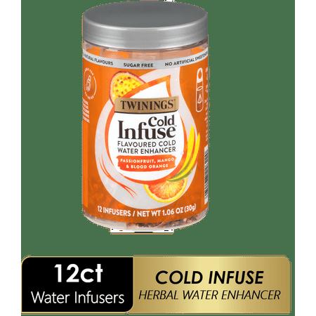 Twinings of London, Cold Infuse Passionfruit, Mango, & Blood Orange Tea, Tea Bags, 12 Ct