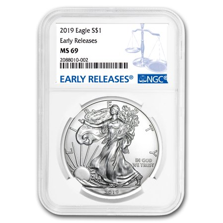 2019 Silver American Eagle MS-69 NGC (Early (Ms69 Early Release)