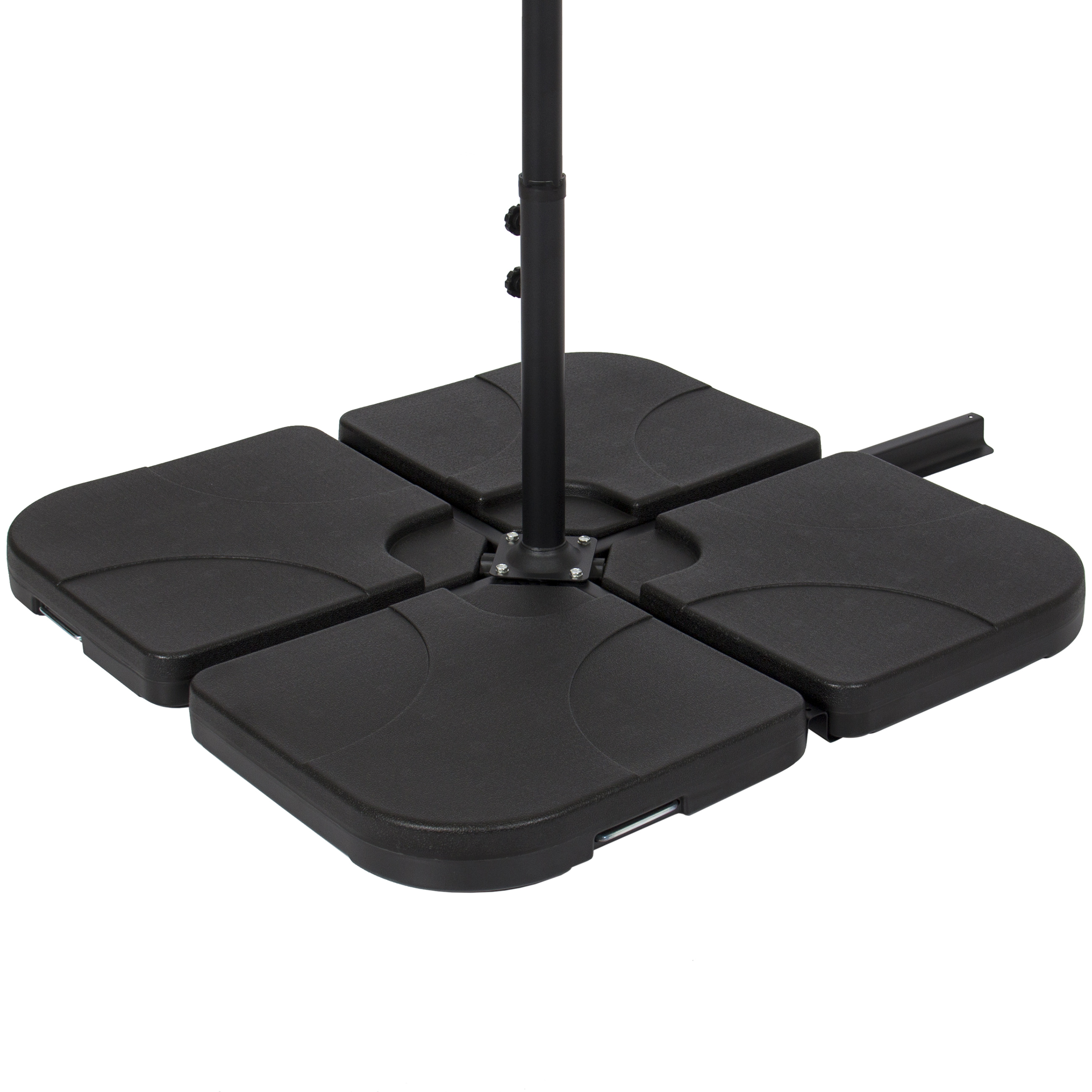 Best Choice Products Patio 4 Piece Cantilever Offset Umbrella Base Stand    Black