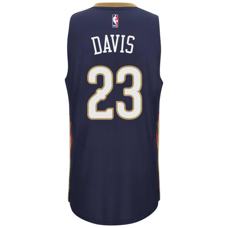 New Orleans Pelicans Adidas NBA Anthony Davis #23 Road Swingman Jersey (Navy)