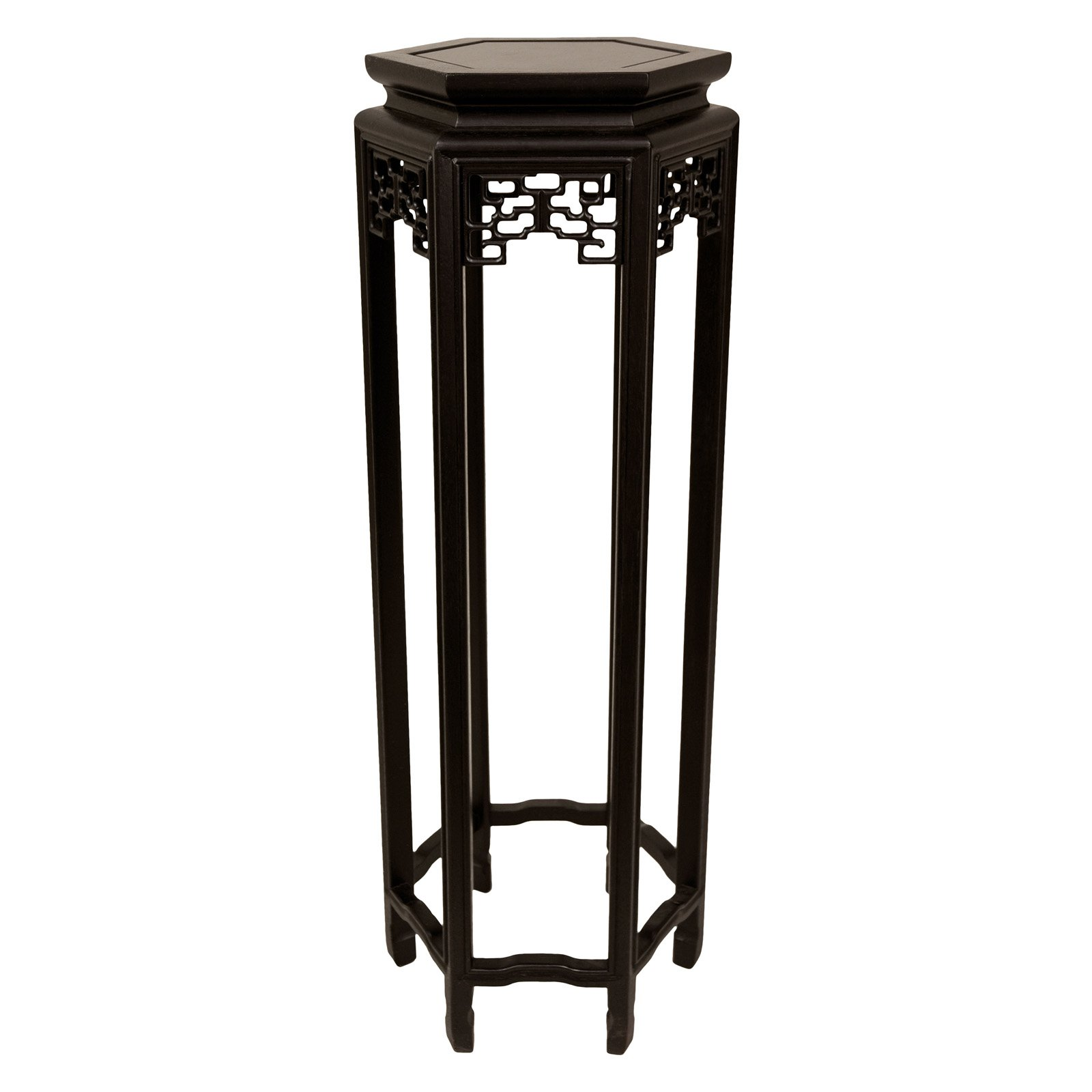 "36"" Hexagon Plant Stand by Oriental Furniture"