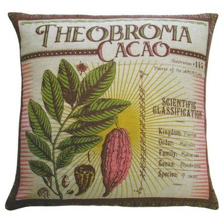 Koko Company 91801 Botanica- Pillow- 20X20- Linen- Theobroma Cacao Print. ()