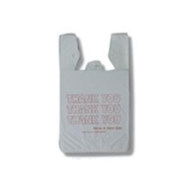 Inteplast Group SKJUMBO Jumbo Handled Thank You T-Shirt Bag, Grey