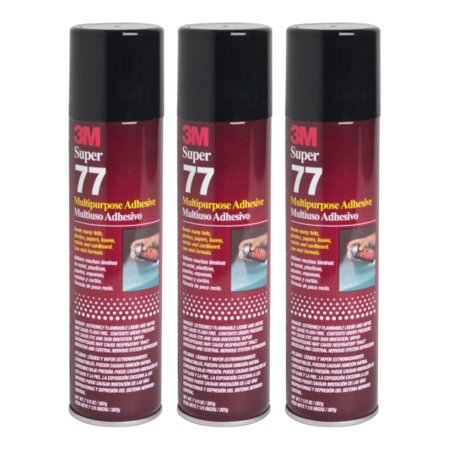 - QTY 3 3M 7.3 oz SUPER 77 SPRAY Glue Multipurpose Bond Adhesive for Arts and Crafts Recycled Journals