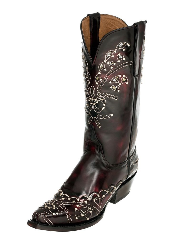 Ferrini Western Boots Womens Wild Diva Snip Black Cherry 82661-08