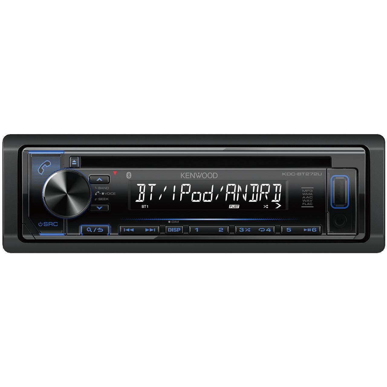 Kenwood KDC-BT272U Single-Din In-Dash CD Receiver With Bluetooth