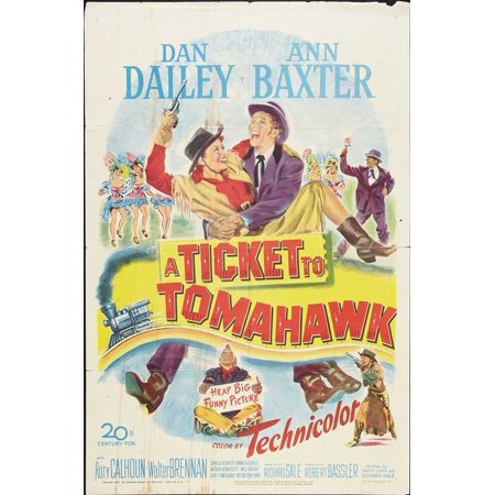 Ticket to Tomahawk POSTER Movie Mini Promo - Tickets For Disneyland Halloween