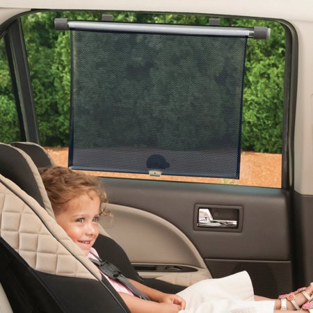 Safety 1st Complete Coverage Car Window RollerShade, Black
