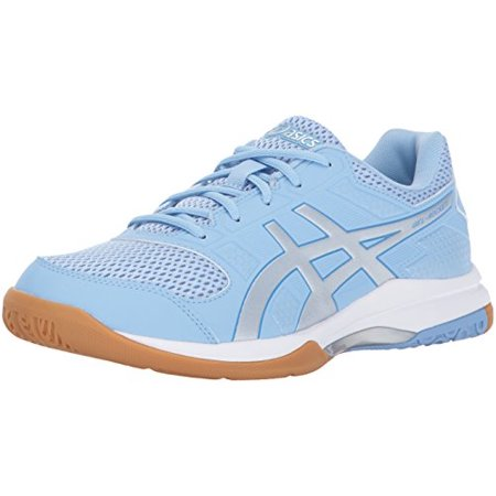 2b84d3a2c69f ASICS Women's Gel-Rocket 8 Volleyball-Shoes, Airy Blue/Silver/White, 13  Medium US - Walmart.com
