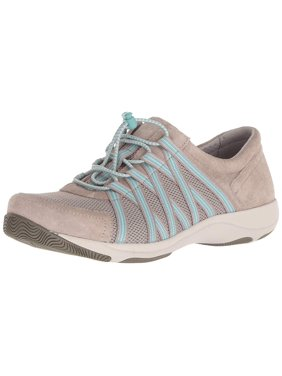 Dansko Womens Honor Leather Low Top Bungee Fashion, Stone Suede, Size 6.5