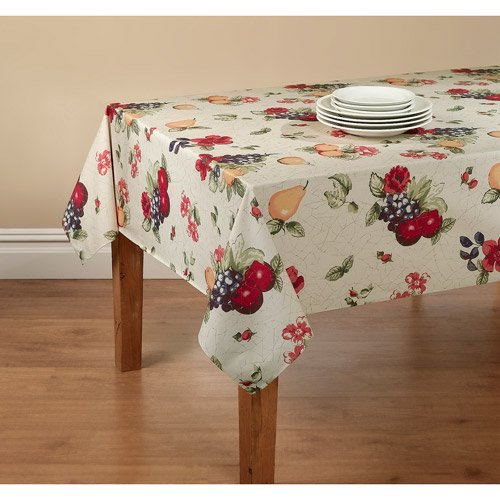 Mainstays Fruit Tablecloth with Table Protector