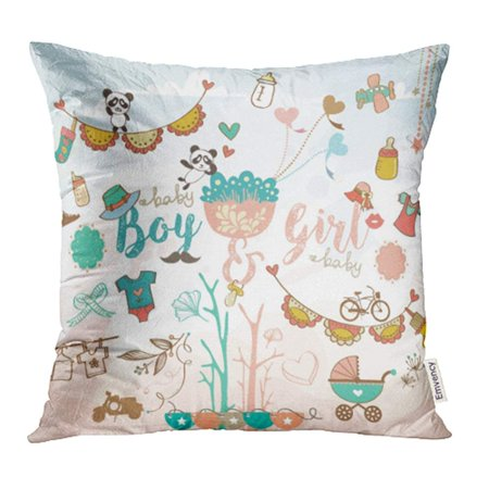 YWOTA Birthday Cute Colorful Baby Boy and Girl Stuff for Design Cartoon Child Graphic Kid Pillow Cases Cushion Cover 16x16 inch - Birthday Stuff For Girls