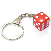 SmallAutoParts Pink Dice Keychain