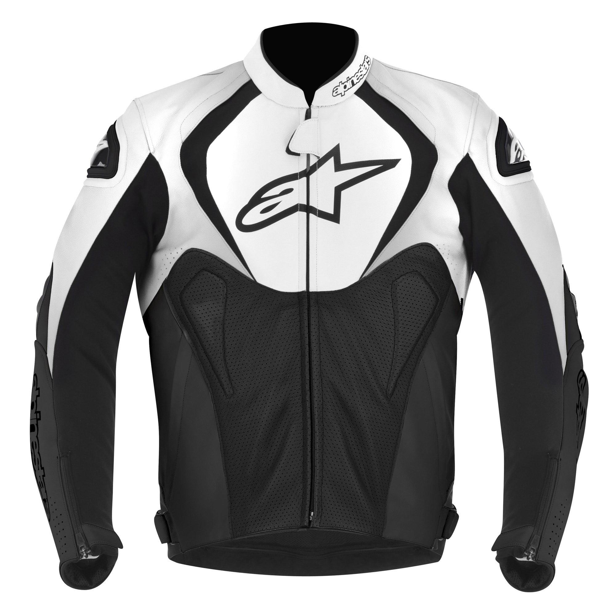 Alpinestars Jaws Perforated Leather Jacket Black/White 58 EUR