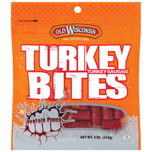 Old Wisconsin Snack Bites Turkey Bites, 4 oz