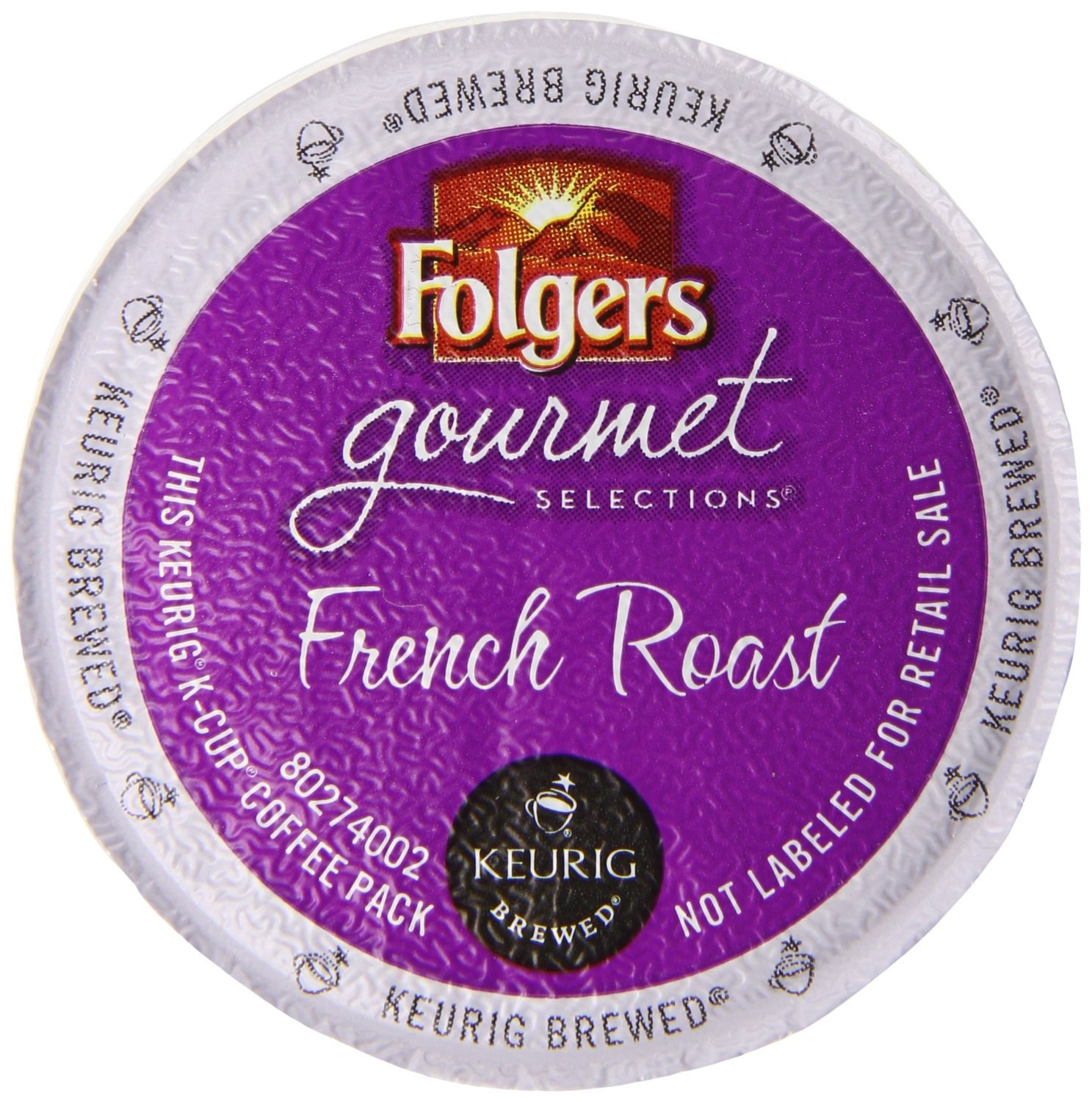 Folgers Gourmet Selections French Roast Coffee K-Cups, 12 CT (Pack of 6)