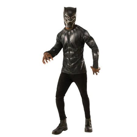 Rubie's Men's Black Panther Costume Top Set, Multi, Extra Large](Black Panther Costumes)
