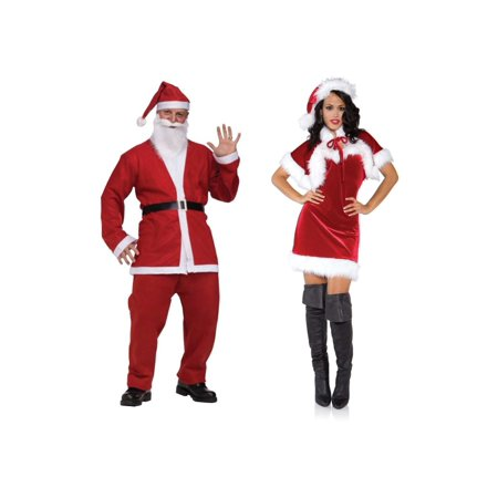 Santa Men Pub Crawl and Merry Holiday Women Xmas Couples Costumes (Pub Crawl Santa Costume)