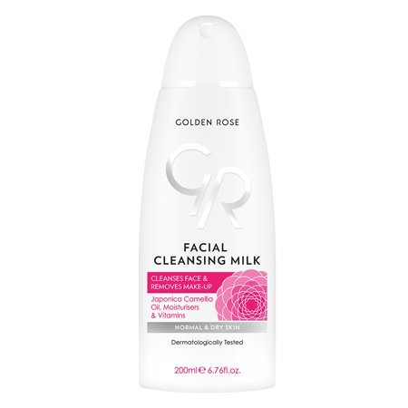 Golden Rose Facial Cleansing Milk for All Skin Types, 6.76 Fluid Ounce