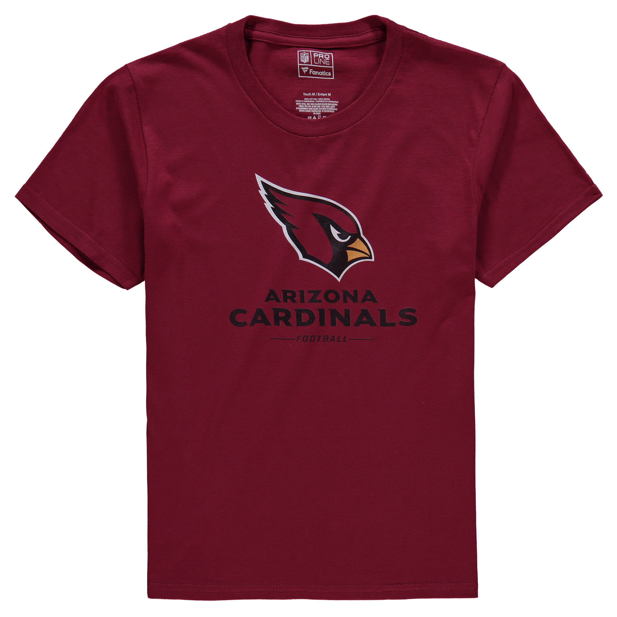 Arizona Cardinals NFL Pro Line Youth Team Lockup T-Shirt - Cardinal