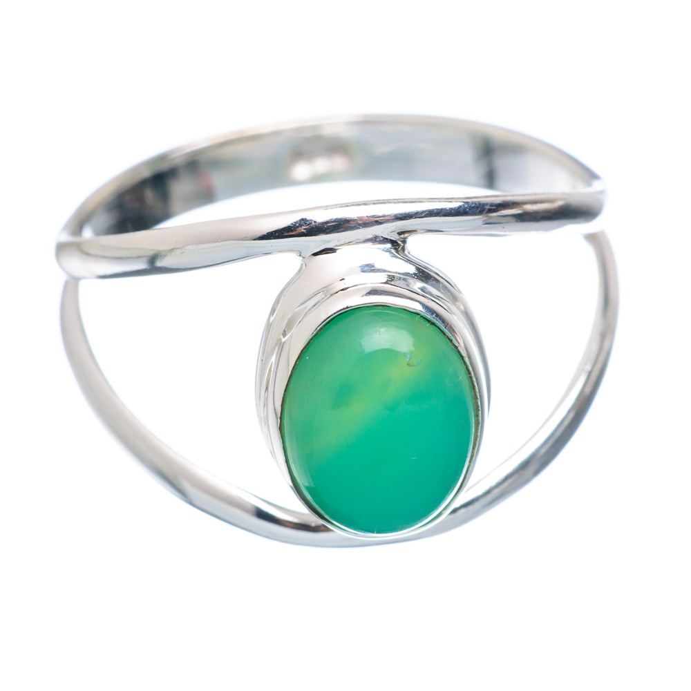 Ana Silver Co Chrysoprase Ring Size 8.75 (925 Sterling Silver) Handmade Jewelry RING855254 by Ana Silver Co.